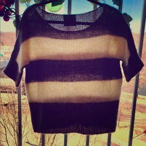 Short sleeve sweater acrylic/mohair